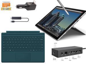 "Microsoft Surface Pro 4 Core i7-6600U 16GB 512GB 12.3"" touch screen w/ 2736x1824 3K 3:2 QHD Windows 10 Pro (Teal Cover, Dock, Wireless Display Bundle)"