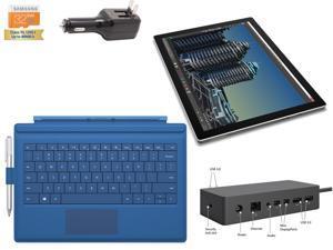 "Microsoft Surface Pro 4 Core i7-6600U 16GB 256GB 12.3"" touch screen w/ 2736x1824 3K 3:2 QHD Windows 10 Pro (Blue Cover w/ Pen Holder, Dock Bundle)"