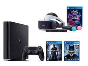 PlayStation VR Bundle 3 Items:VR Bundle,PlayStation 4 Slim 500GB Console - Uncharted 4,VR Game Disc Arkham VR
