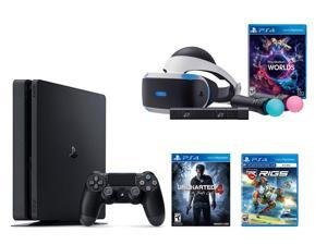 PlayStation VR Bundle 3 Items:VR Bundle,PlayStation 4 Slim 500GB Console - Uncharted 4,VR Game Disc RIGS Mechanized Combat League