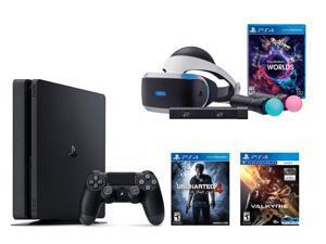 PlayStation VR Bundle 3 Items:VR Bundle,PlayStation 4 Slim 500GB Console - Uncharted 4,VR Game Disc PSVR EV-Valkyrie