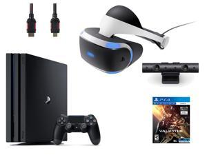 PlayStation VR Bundle (4 Items): PlayStation 4 Pro 1TB Game Console, VR Headset, Playstation Camera, PSVR EVE: Valkyrie Game Disc