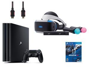 PlayStation VR Starter Bundle (5 Items): PlayStation 4 Pro Console 1TB, VR Headset, 2 Move Motion Controllers, PlayStation Camera, PSVR DriveClub Game Disc