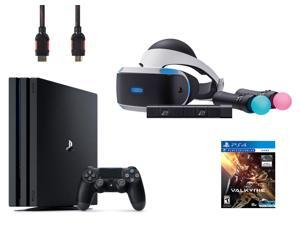 PlayStation VR Starter Bundle (5 Items): PlayStation 4 Pro 1TB Console, VR Headset, 2 Move Motion Controllers, PlayStation Camera, and PSVR EVE: Valkyrie Game Disc