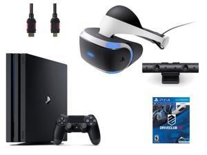 PlayStation VR Bundle (4 Items): PlayStation 4 Pro 1TB Console, VR Headset, Playstation Camera, PSVR Driveclub Game Disc