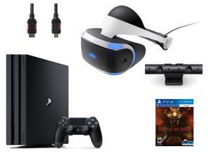 PlayStation VR Bundle (4 Items): PlayStation 4 Pro 1TB Console, VR Headset, Playstation Camera, PSVR Until Dawn: Rush of Blood Game Disc