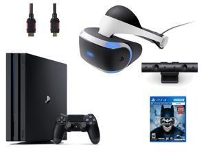 PlayStation VR Bundle (4 Items): PlayStation 4 Pro 1TB Game Console, VR Headset, Playstation Camera, Arkham VR Game Disc