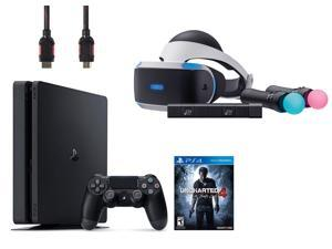 PlayStation VR Start Bundle 4 Items:VR Headset,Move Controller,PlayStation Camera Motion Sensor,PlayStation 4 Slim 500GB Console - Uncharted 4
