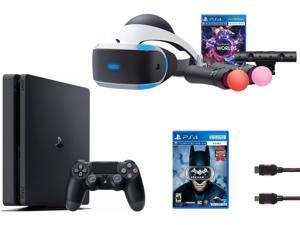 PlayStation VR Launch Bundle (3 Items): VR Launch Bundle, PlayStation 4 Slim 1TB, VR Game Disc Batman: Arkham VR