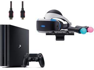 PlayStation VR Start Bundle (4 Items): VR Headset, Move Controller, PlayStation Camera Motion Sensor, Sony PS4 Slim 1TB Console - Jet Black