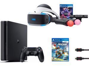 PlayStation VR Launch Bundle (3 Items): VR Launch Bundle, PlayStation 4 Slim 1TB, VR Game Disc RIGS Mechanized Combat League
