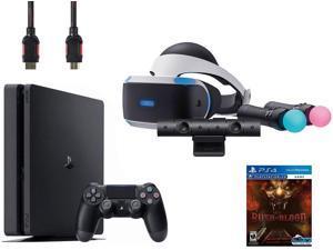 PlayStation VR Start Bundle (5 Items): VR Start Bundle, Sony PS4 Slim 1TB Console - Jet Black, VR game disc PSVR Until Dawn: Rush of Blood