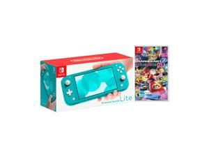 2019 New Nintendo Switch Lite Turquoise Bundle with Mario Kart 8 Deluxe NS Game Disc - 2019 Best Game!