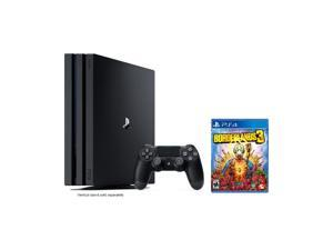 PlayStation 4 Pro 1TB Jet Black 4K HDR Gaming Console Bundle With Borderlands 3 - 2019 New PS4 Game!