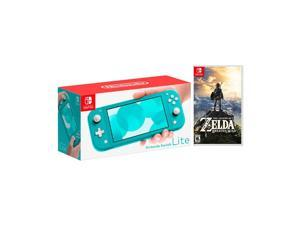 2019 New Nintendo Switch Lite Turquoise Bundle with The Legend of Zelda: Breath of the Wild Game Disc - 2019 Best Game!
