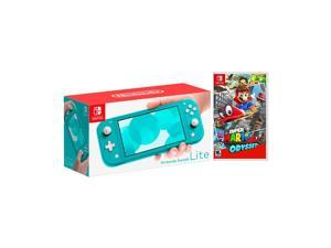 2019 New Nintendo Switch Lite Turquoise Bundle with Super Mario Odyssey NS Game Disc - 2019 Best Game!