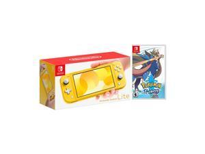 2019 New Nintendo Switch Lite Yellow Bundle with Pokémon Sword NS Game Disc - 2019 New Game!