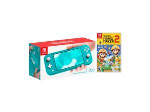2019 New Nintendo Switch Lite Turquoise Bundle with Super Mario Maker 2 NS Game Disc - 2019 New Game!