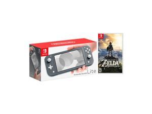 2019 New Nintendo Switch Lite Gray Bundle with The Legend of Zelda: Breath of the Wild Game Disc - 2019 Best Game!