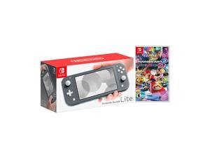 2019 New Nintendo Switch Lite Gray Bundle with Mario Kart 8 Deluxe NS Game Disc - 2019 Best Game!