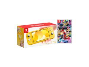 2019 New Nintendo Switch Lite Yellow Bundle with Mario Kart 8 Deluxe NS Game Disc - 2019 Best Game!