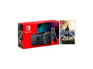2019 New Nintendo Switch Gray Joy-Con Improved Battery Life Console Bundle with The Legend of Zelda: Breath of the Wild Game Disc - 2019 Best Game!