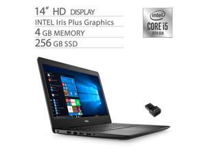 Dell Inspiron 14 Home and Business Laptop, 10th Gen Core i5-1035G4, Iris Plus Graphics, 4GB RAM, 256GB SSD, 4-Cores up to 3.70 GHz, RJ-45 LAN, Fingerprint, WebCam, HDMI, Win 10