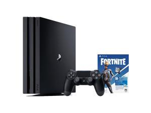 PlayStation 4 Pro Fortnite Neo Versa Bundle: 1TB Jet Black PlayStation 4 Pro Console, DualShock 4 Wireless Controller, Epic Neo Versa Outfit, Epic Neo Phrenzy Back Bling, and 500 V-Bucks
