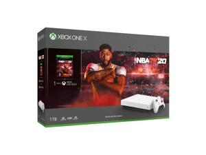 Microsoft Xbox One X 1TB NBA 2K20 Hyperspace Limited Edition White Night Sky Console, NBA 2K20 Full Game, 1 Month Xbox Live Gold and Game Pass Bundle