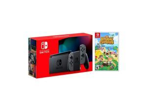 New Nintendo Switch Gray Joy-Con Improved Battery Life Console Bundle with  Animal Crossing: New Horizons NS Game Disc - 2020 Best Game!
