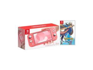 2020 New Nintendo Switch Lite Coral Bundle with Pokémon Sword NS Game Disc - 2019 New Game!