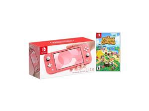 2020 New Nintendo Switch Lite Coral Bundle with Animal Crossing: New Horizons NS Game Disc - 2020 Best Game!
