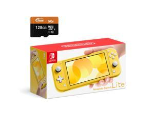 Nintendo Switch Lite Console - Yellow - With 128GB Micro SD Card and Adapter