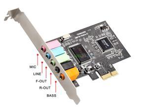 PCI-e Express Audio Sound Card 5.1 Channels CMI8738 Chipset PCIe Audio Card Digital 3D Stereo with Low Profile Bracket for PC Windows 7, 8, 10