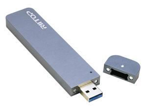 M.2 NVMe & SATA SSD to USB Enclosure Adapter, RIITOP M2 to USB 3.1 Type A Reader for Both B Key and M Key SSD, Tool-Free