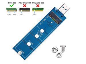 RIITOP B Key M.2 NGFF SATA SSD to USB Adapter for M.2 2280 mm NGFF SATA SSD to USB 3.0 (No Need Cable) Converter Adaptor, USB to 2280 mm M.2 SSD Hard Drive Adapter, NGFF SSD Reader Card