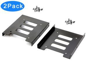SSD Mounting Bracket, RIITOP SSD Bracket 2.5 to 3.5 Adapter SSD HDD Metal Mounting Bracket Adapter Hard Drive Holder for PC SSD (2-Pack)