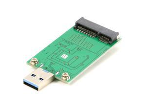 mSATA SSD to USB Converter Adapter Card External USB 3.0 to mSATA SSD Mini SATA SSD Reader (No need cable) Module Board UASP ASM1153E Chpset Hi Speed 5Gb
