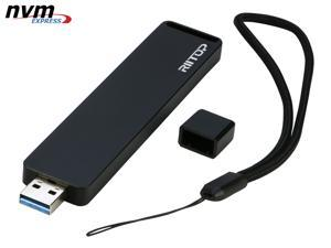 RIITOP M Key M.2 NVMe to USB 3.1 SSD Enclosure Adapter PCIe M.2 NVMe (M Key) SSD to USB Type A Converter Adapter with Metal Case in Black