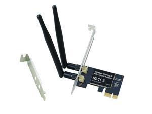 RIITOP PCI Express Wireless WiFi Adapter Card 300M For Desktop PC Network Interface Lan Card 2.4G with 2DB Wifi Antenna Low Profile Bracket Realtek 8192CE