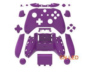 WPS Matte Purple Case Housing Full Shell Set Faceplates + ABXY Buttons + RB LB Bumpers + Right/Left Rails for Xbox One S Slim  (3.5mm Headphone Jack) Controllers for 1708 version