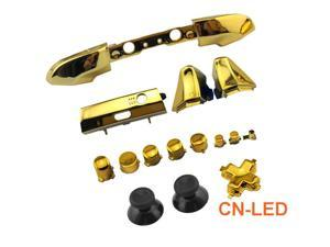 WPS Chrome Gold ABXY Dpad Triggers Full Buttons Set Mod Kits for Newest Xbox One Slim/Xbox one S Controller with Screwdriver (Torx T6 T8) Set for 1708 version