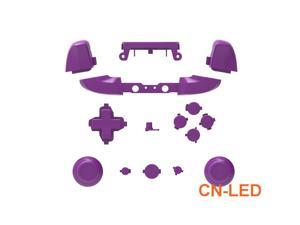 WPS Matte Purple ABXY Dpad Triggers Full Buttons Set Mod Kits for Newest Xbox One Slim/Xbox one S Controller with Screwdriver (Torx T6 T8) Set  for 1708 version