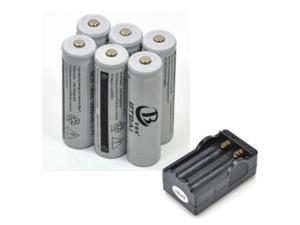 LEMAI® (6 Pieces) 5000mAh 3.7V 18650 NCR Rechargeable Li-ion Battery + Charger For Ultrafire TrustFire LED Flashlight Flash Light Torch Laser Pointer