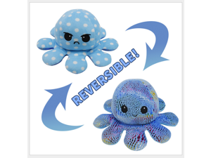 The Original Reversible Octopus Plushie |  Light Pink and Dark Pink | Show your mood without saying a word!