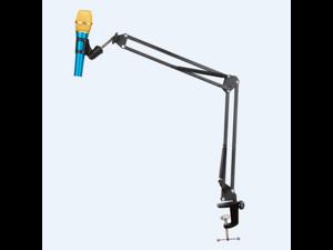 Portable Desk Microphone Mic Suspension Boom Scissor Arm Stand .