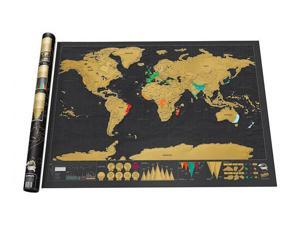 Large Deluxe Scratch Off World Map Poster Personalised Travel Vacation Log Gift