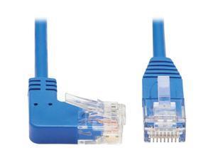TRIPP LITE N204-S01-BL-RA 1 ft. Cat 6 Blue Right-Angle Cat6 Gigabit Molded Slim UTP Ethernet Cable (RJ45 Right-Angle M to RJ45 M)