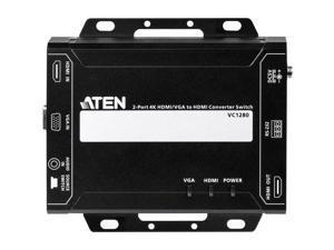 Aten VC1280 2-Port 4K HDMI/VGA to HDMI Converter Switch