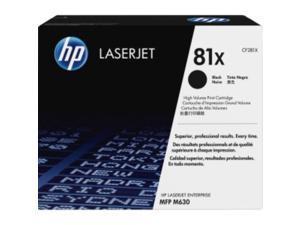 HP 81X High Yield Black Original LaserJet Toner Cartridge, CF281X
